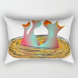 hungry birds Rectangular Pillow