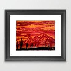 Camelback Mountain Phoenix, AZ Framed Art Print