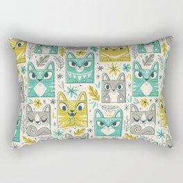 Tiki Kitty Rectangular Pillow