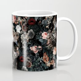 Skull and Floral pattern Coffee Mug