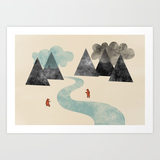 River Friends Art Print