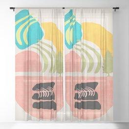 Modern shapes 1 Sheer Curtain