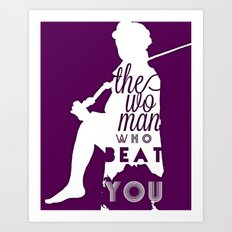 Beat You Art Print