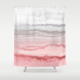 WITHIN THE TIDES - ROSE TO GREY Shower Curtain