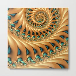 Fractal Splendor, Modern 3D Art Metal Print