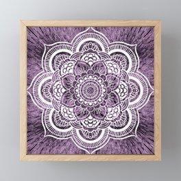 Mandala Grayish Purple Colorburst Framed Mini Art Print
