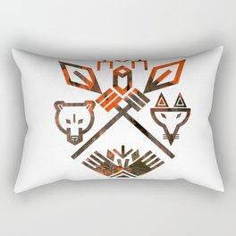 Tribal Sign Animals Wolf Bear Fox Rectangular Pillow