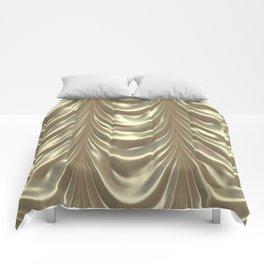 Decadent drapery,golden Comforters