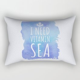 I Need Vitamin Sea Quote Rectangular Pillow