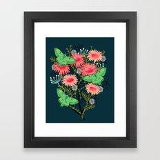 Luna Moth Florals by Andrea Lauren  Framed Art Print