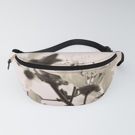 Blossoms Monochrome Fanny Pack
