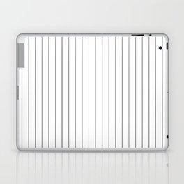 White Black Pinstripes Minimalist Laptop & iPad Skin