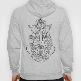 Ganesha. Hand drawn illustration Hoody