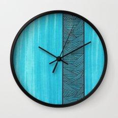 Light Blue Background Wall Clock