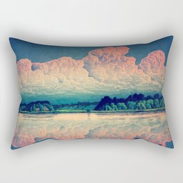 Admiring the Clouds in Kono Rectangular Pillow