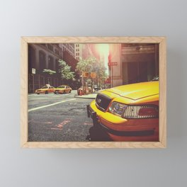 NYC Taxi Cab Framed Mini Art Print