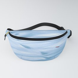 Snow Fall Feather Fanny Pack