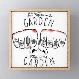 What Happens in the Garden? Framed Mini Art Print