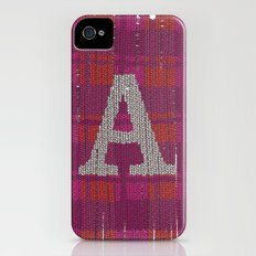 Winter clothes. Letter A III. iPhone (4, 4s) Slim Case