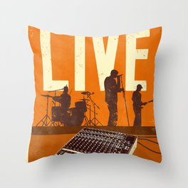 LIVE SHOW Throw Pillow