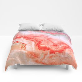 Luxury LIVING CORAL Agate Marble Geode Gem Comforters