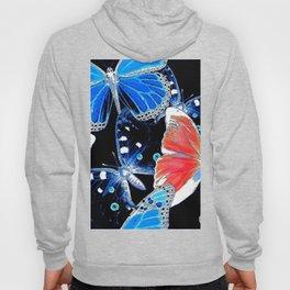 Artistic colorful flock of butterflies Hoody