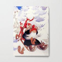 "Rudolf Koivu ""Elves Sled Ride"" Metal Print"