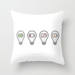 Every Day Life Recharging Ideas Throw Pillow