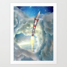 The Remarkable Rocket Art Print