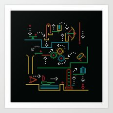 incredible machine Art Print