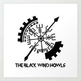 The Black Wind Howls Art Print