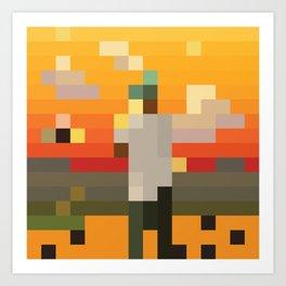 Scum Pixel Flower Boy Art Print