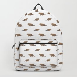Groundhogs - White Backpack