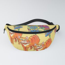 Three Blooming Kitties Fanny Pack
