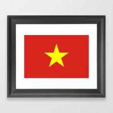 Flag Of Vietnam Framed Art Print