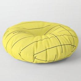 Library Card BSS 28 Yellow Floor Pillow