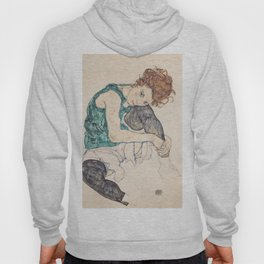 SEATED WOMAN WITH BENT KNEE - EGON SCHIELE Hoody