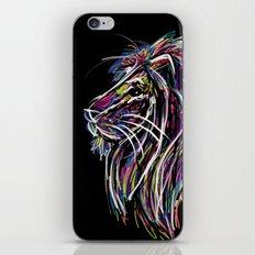 Neon Glow Lion (He)art iPhone & iPod Skin