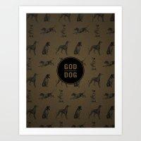 God spelled backwards is dog Art Print