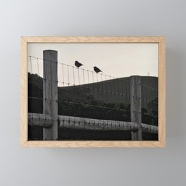 with a cross on the hill Framed Mini Art Print