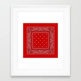 Paisley - Bandana - Red - Southwestern - Boho Framed Art Print
