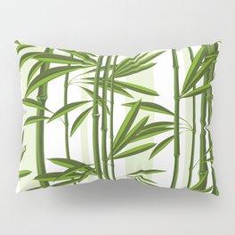 Green bamboo tree shoots pattern Pillow Sham