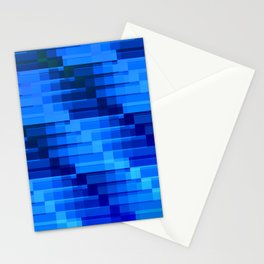 Buildings At Night In Blue Modern Abstract Stationery Cards