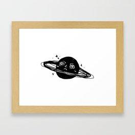 Graphic: sad planet Framed Art Print
