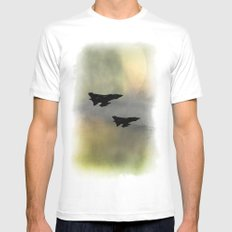 Tornadoes at Dawn MEDIUM White Mens Fitted Tee