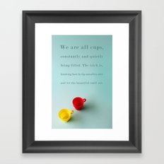 Constantly and Quietly Framed Art Print