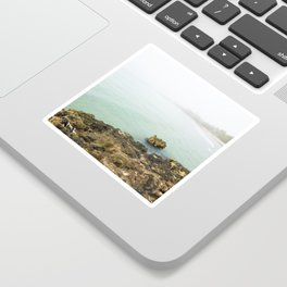 Bay of Pigs Playa Larga Cuba Caribbean Sea Ocean Beach Geology Limestone Tropical Island Fog Mist Ne Sticker