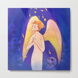 Angel boy the leaving Metal Print