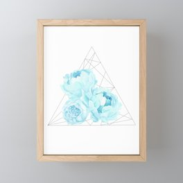 Blue Peonies (White) Framed Mini Art Print