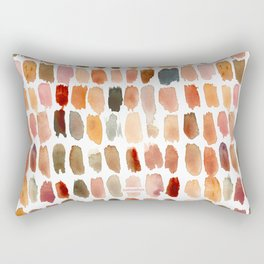 SKIN SWATCHES Watercolor Brushstrokes Rectangular Pillow
